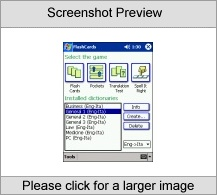 LingvoSoft FlashCards English  Italian for Pock Software tool